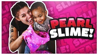 HOW TO MAKE GIANT PEARL SLIME | DIY SHINY SHIMMERY SQUISHY SLIME!!