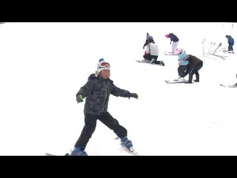 冬鳥越スキーガーデンがオープン 七谷小がスキー授業