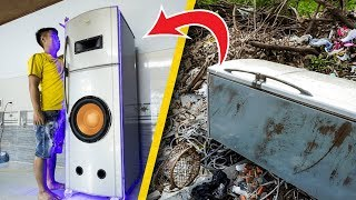 recycle-fridge-from-landfill-into-giant-speaker-box