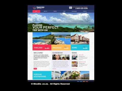 Travel Related webdesign sample