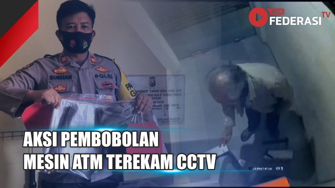 Blitar – Aksi Pembobolan Mesin ATM Terekam CCTV