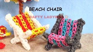 Rainbow Loom Band 3D BEACH CHAIR ADVANCED Charm Tutorials By Crafty Ladybug /How To DIY