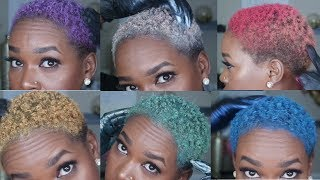 How To Color Natural Hair Multiple Colors |  NO BLEACH!!!