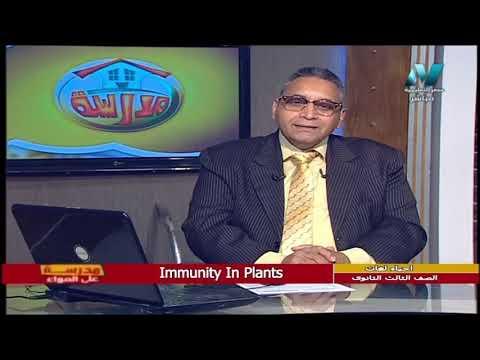 أحياء لغات للصف الثالث الثانوي  2021 -  الحلقة 23 – Immunity In plants