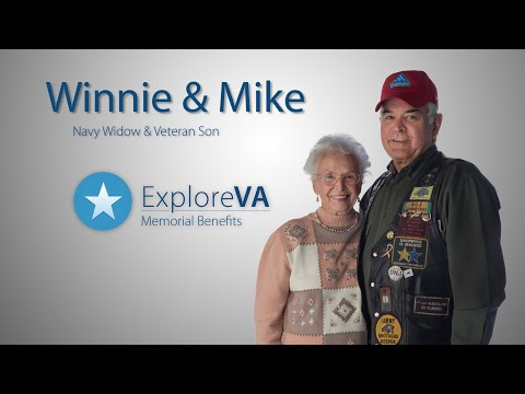 VA memorial benefits honor the memory and service of Winnie's husband.