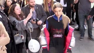 Gigi Hadid attending the TommyxGigi Get-together hilfiger tour in London