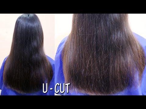 U-Cut Hairstyle    Long Layared U-shape Ladies Haircut   Beautiful Hairstyle   Integrators