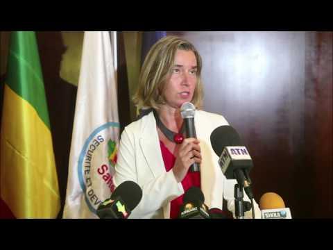Réponse de la HRVP  à une question sur le Qatar lors de sa visite au Mali lundi
