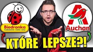BIEDRONKA vs AUCHAN - TEST SMAKU NA ŚLEPO!