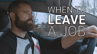 Road Reflections: How To Know When It's Time to Leave Your Current Job