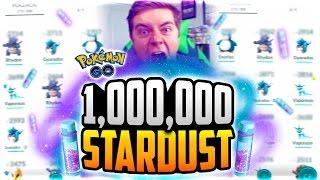 Pokemon Go - 1 MILLION STARDUST POWER UP! (MY FIRST 3,000 CP POKEMON?!?)