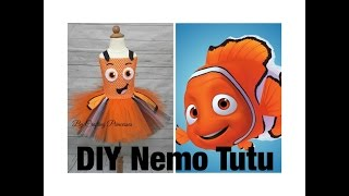 Finding Nemo Tutu Dress! How to make a Nemo Tutu costume