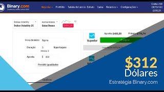 BINARY.COM - $312 NA CONTA REAL   ESTRATÉGIA 10/10 BINARY EM OPERAÇÃO.