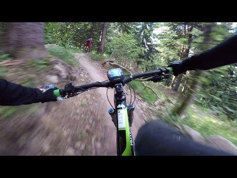 Macht E-MTB Spaß? Selbstversuch auf dem neuen Uphill Flow Trail im Bikepark Geisskopf mit Ebike