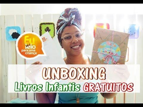 UNBOXING | LIVROS INFANTIS GRATUITOS | Passos entre Linhas