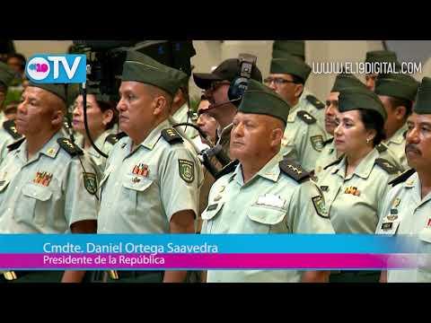Daniel y Rosario presiden acto del 38 aniversario del Ejército de Nicaragua