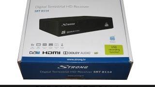 Déballage récepteur décodeur digital terrestre DVB-T TNT HD Strong SRT 8114