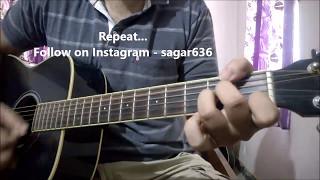 Tera Hoke Rahoon - Arijit Singh | Guitar Lesson With Intro | Behen Hogi Teri