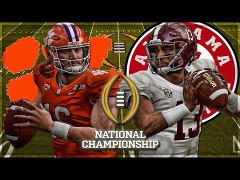 ALABAMA VS CLEMSON | Madden 19 College Football Mod NATIONAL CHAMPIONSHIP GAMEPLAY SIMULATION