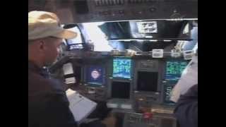 Стыковка с МКС изнути шаттла Атлантис