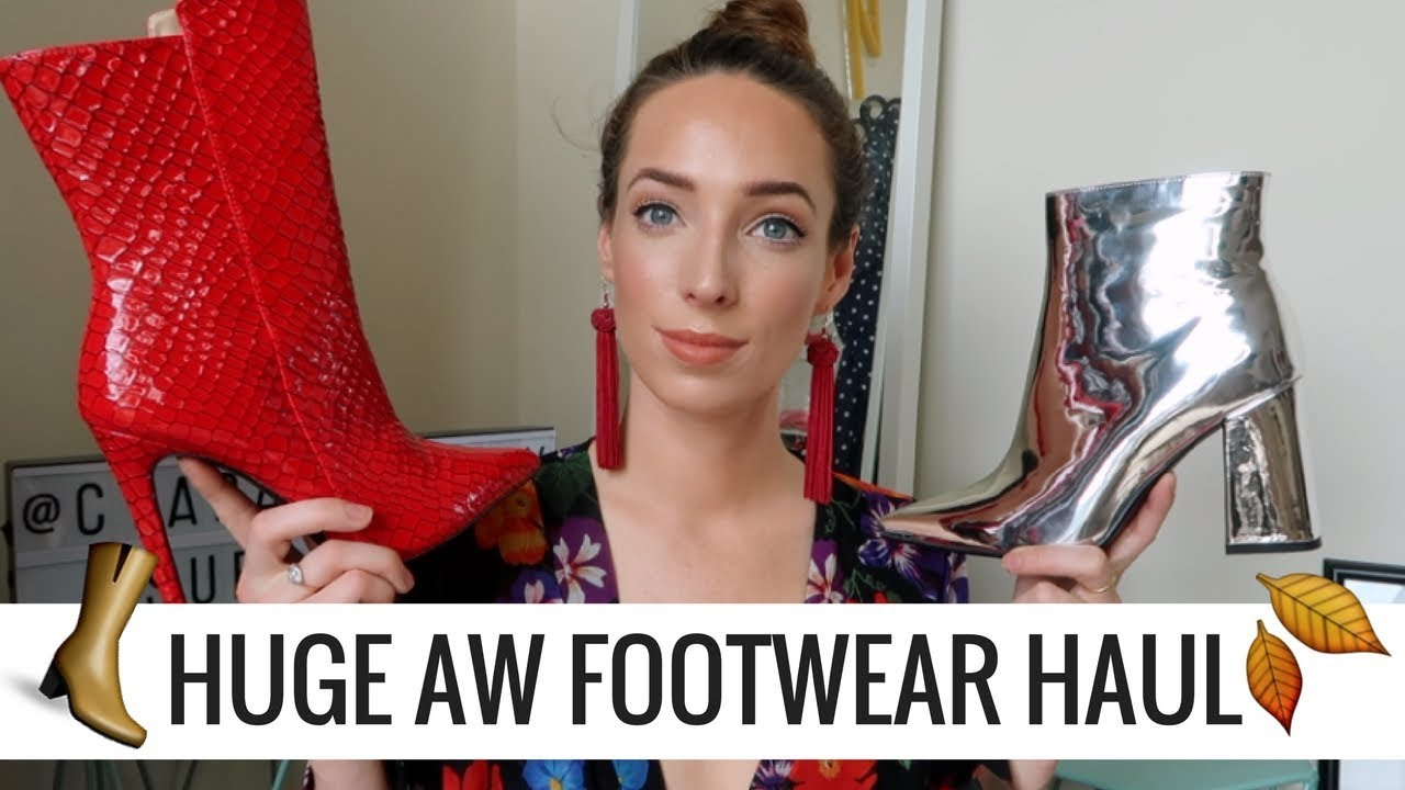 HUGE AUTUMN/WINTER FOOTWEAR HAUL 🍂 👢👞 🛒  PUBLIC DESIRE, EGO, RIVER ISLAND | CIARA O DOHERTY