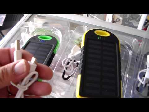cargador solar para celular, cargador portatil para movil, unboxing
