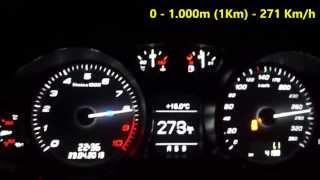 AUDI R8 V10 testing 0 - 281 Km/h in SÃO PAULO (BRAZIL)