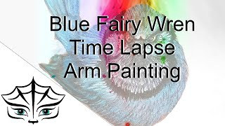 Blue Fairy Wren - Time Lapse Arm Painting