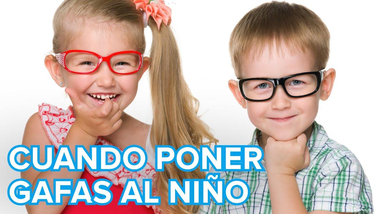Cuando se deben poner gafas al niño. Salud visual en la infancia