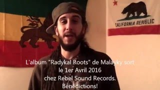 Zack Reed – CEO – Rebel Sound – Introducing MALAYKY's new album release RADYKAL ROOTS – 1 April 2016