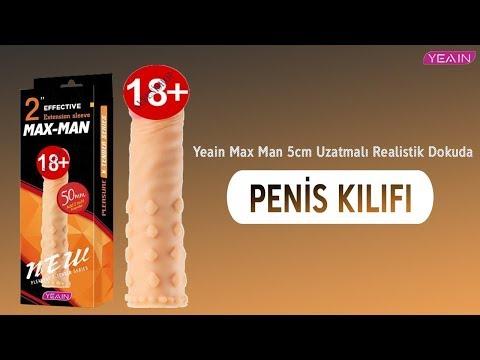 Yeain Max Man 5cm Uzatmalı Realistik Dokuda Penis Kılıfı-914
