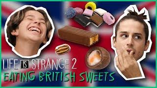 Sean and Daniel's Voice Actors Try British Sweets - Life is Strange 2