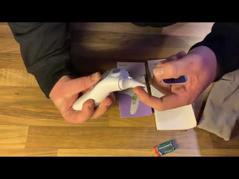 Fieberthermometer Ohrthermometer Infrarot Stirnthermometer, HYLOGY 3-IN-1 unboxing und Anleitung