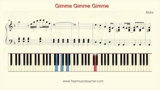 "How To Play Piano: Abba ""Gimme Gimme Gimme"" Piano Tutorial by Ramin Yousefi"