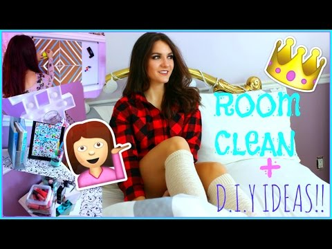 Cleaning my ROOM +  DIY ROOM ORGANIZATION IDEAS + Tips & TRICKS
