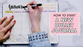 How To Start A New Bullet Journal | Plan With Me