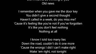 Old News Mitch James Lyrics