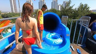 Water Slides At Aqua Dolphin In Istanbul