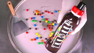 Colorful m&m Ice Cream Rolls | how to make Ice Cream with m&m's Chocolate Shake | Satisfying ASMR