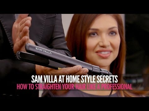 How To Straighten Your Hair Like a Professional With a Flat Iron
