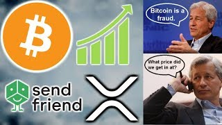 BITCOIN RECOVERY - BILLIONAIRE INVESTS IN CRYPTO - JAMIE DIMON SEES BITCOIN LIGHT? - SENDFRIEND XRP