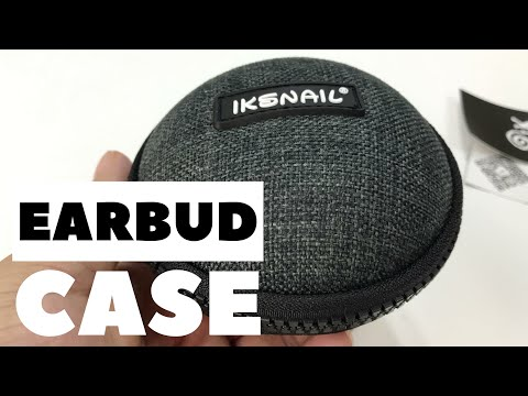 Hardsided Canvas Earbud Zippered Travel Case by Iksnail Review