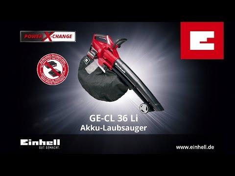 Einhell Aspirateur de feuilles sans fil GE-CL 36 Li E Solo – sans batterie/chargeur (Fonctionnement sur batterie rechargeable, Aspirateurs et souffleurs)