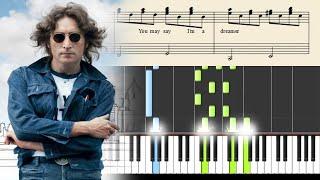 "Video thumbnail of ""John Lennon - Imagine - Piano Tutorial + Sheets"""