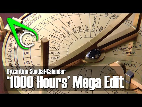For Your Holiday Relaxation: the Clickspring Sundial Build Megacut