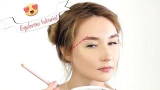 Смотреть онлайн Как сделать правильно красивую форму бровей