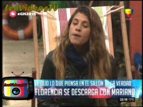 Florencia se descargo con mariano en el sillon de la verdad GH 2015 #GH2015 #GranHermano