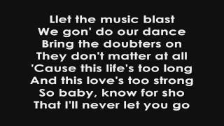 Never Let You Go - Justin Bieber Lyrics On Screen HD HQ