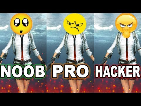 NOOB vs PRO vs HACKER - PUBG MOBILE