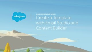 Email Studio & Content Builder - Create A Template